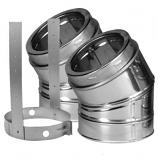 "30 Degree Stainless Steel Elbow Kit - 6"""