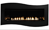 Boulevard Cont. VF IP Fireplace w/Liner and Black Porcelain Cover, NG