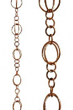 Copper Life Circles Rain Chain-8.5' Full Length