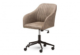 Maida Mid-Century Modern Light Brown Fabric Upholstered Office Chair