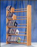 Solid Oak 5 Row Dowel CD Rack Model 501