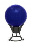 "12"" Gazing Globe, Blue, Crackle"