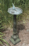 Rome Cast Aluminum Pedestal - Copper and Green Patina