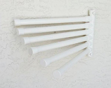 Wall Mount Towel Rack with 6 Bars, White