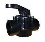 Waterco 148561 2x2.5in 50/65mm FPI 2-Way Valve Slip Fit Teflon Seal NSF - Black
