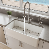 "ALFI ABF3618 36"" White Thin Wall Single Bowl Kitchen Farm Sink"