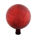 "Gazing Ball 10"" Red Crackle By ACHLA Designs"