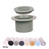 Color Match CP-01 Standard Cap and Flange Plug Set - White
