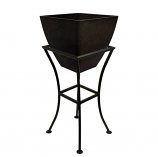 """RTS 12"""" Square Planter with Stand - Graphite"""