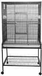 A&E Cage 13221 BLUE 32x21x63in Flight Bird Cage With Stand