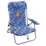 Margaritaville 4-Position Backpack Beach Chair - Blue Floral