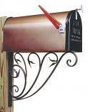 Leafy Leaf Mail Box Bracket By ACHLA Designs