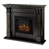 Ashley Electric Black Wash Fireplace