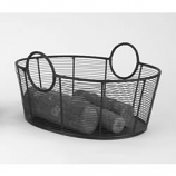 Woodfield Steel Wire Wood Basket