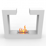 Regal Flame EF6006W Vinci Ventless Free Standing Ethanol Fireplace in White