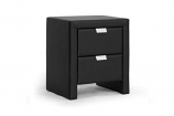 Frey Black Upholstered Modern Nightstand