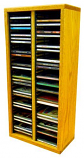 Solid Oak desktop or shelf CD Cabinet- Honey Oak Model 209-2