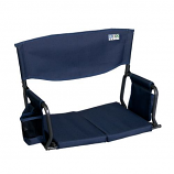 Shelter Logic 10115-1 Bleacher Boss Compact Stadium Arm Chair - Navy