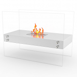 Regal Flame EF6003SS Ionic Ventless Free Standing Ethanol Fireplace in Steel