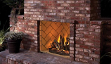 "42"" OD Vent-Free Firebox with Ivory Split Herringbone Liner"