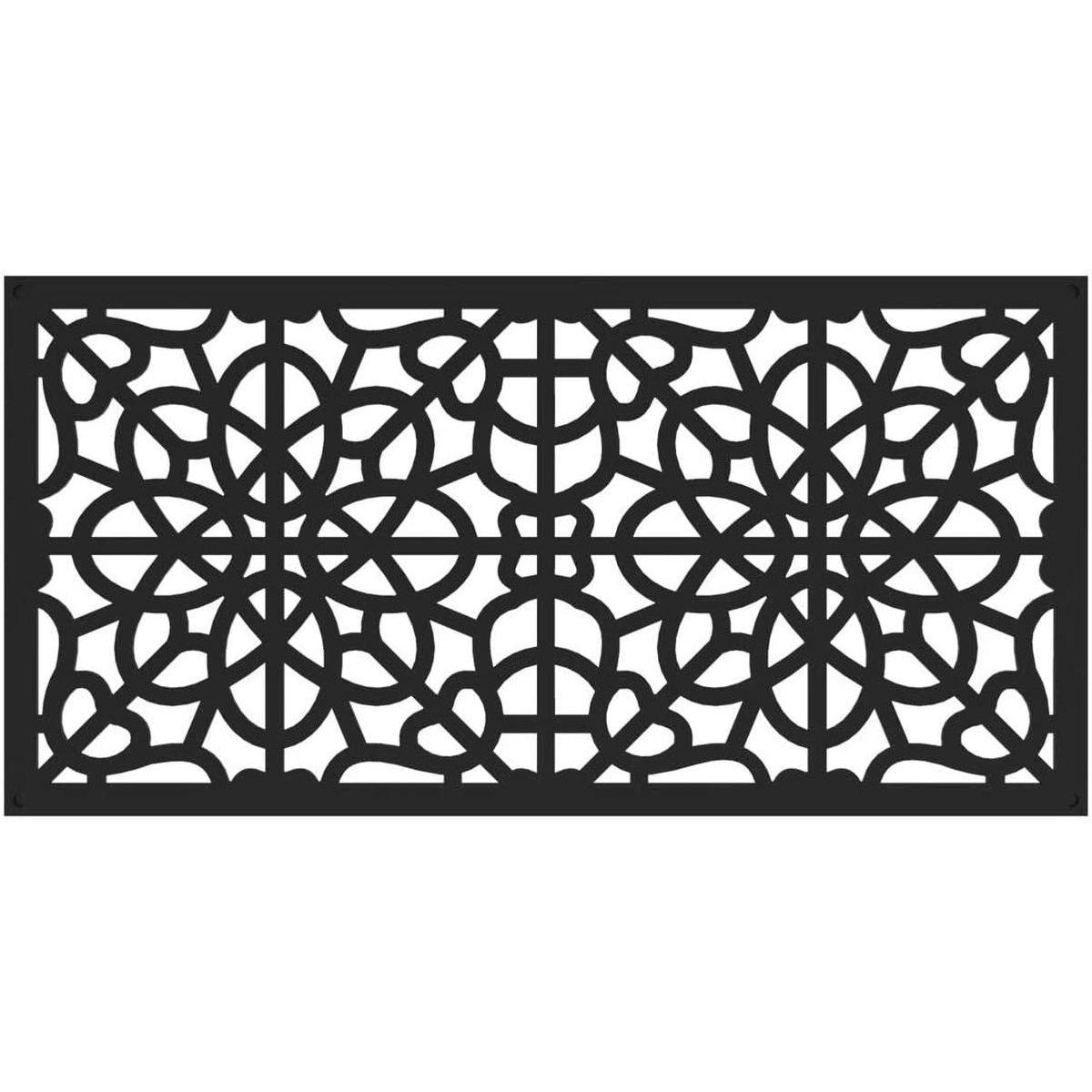 RDI 73004786 Fretwork Decorative Screen Panels - Black