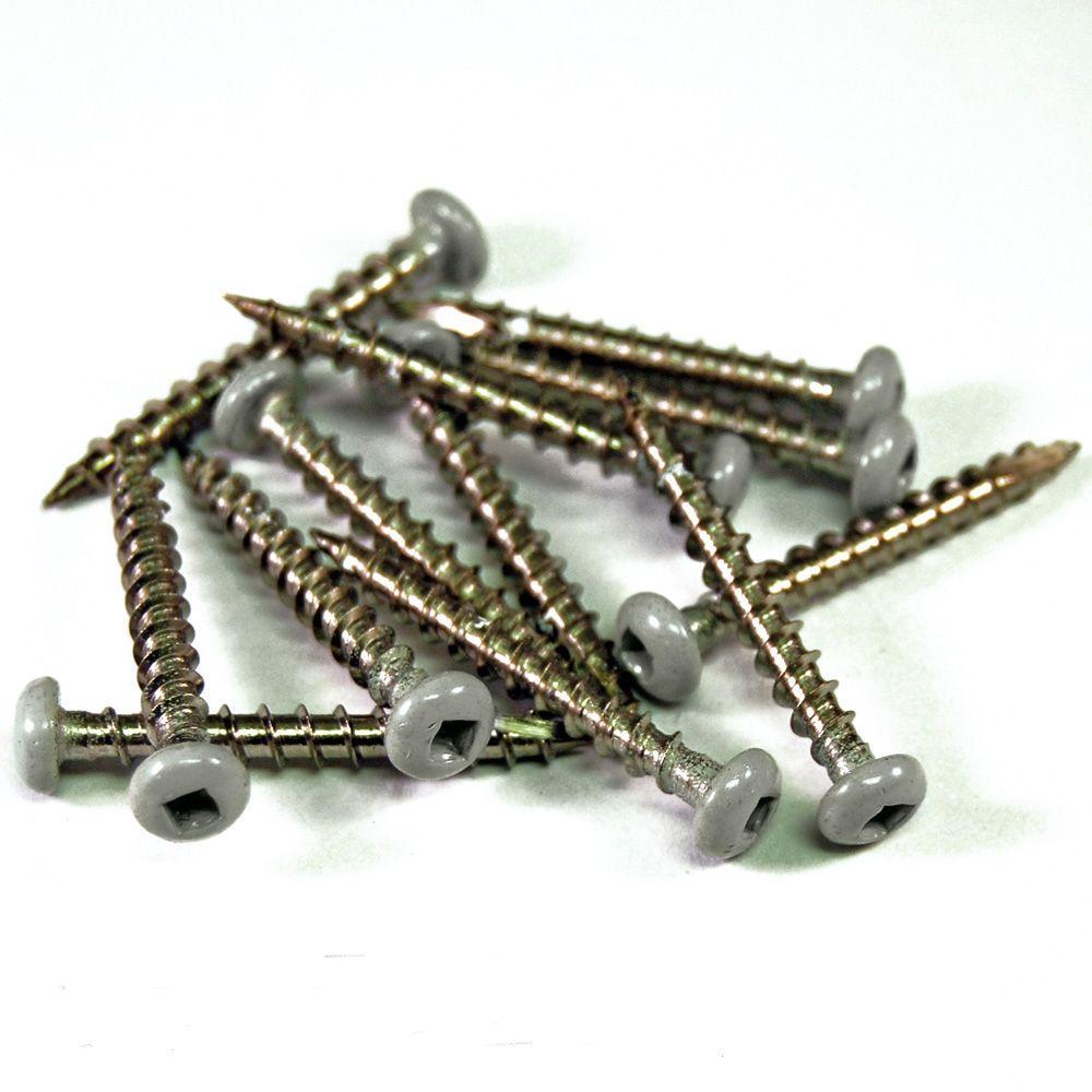 """RDI 73013281 1.5"""" 12-Pack Stainless Steel Screws - Nantucket Gray"""