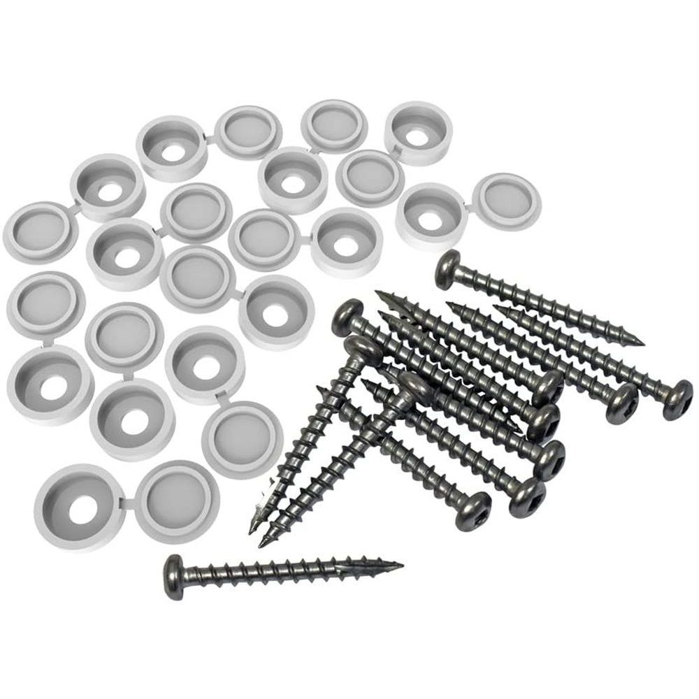 RDI 73025526 Fastener Kit 12-Pack Screws and Covers - White