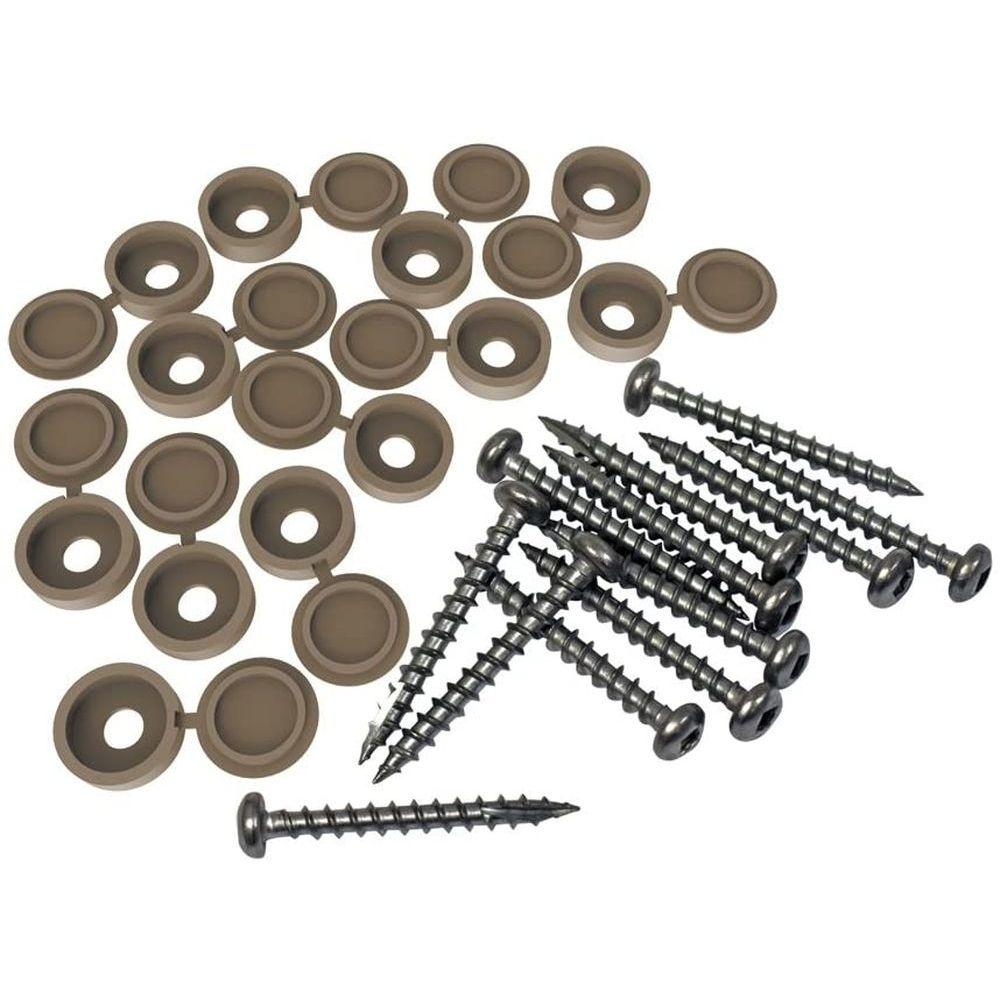 RDI 73025529 Fastener Kit 12-Pack Screws and Covers - Saddle
