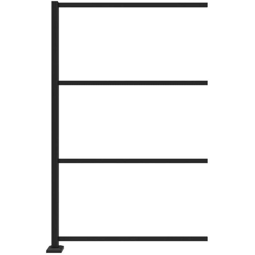RDI 73045675 Decorative Screen Panels Line Post Kit in Satin Black