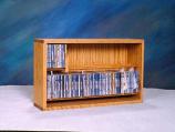 Solid Oak Dowel Cabinet for CD's Model 206-24