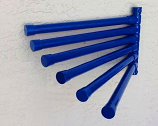 Wall Mount Towel Rack with 6 Bars, Blue