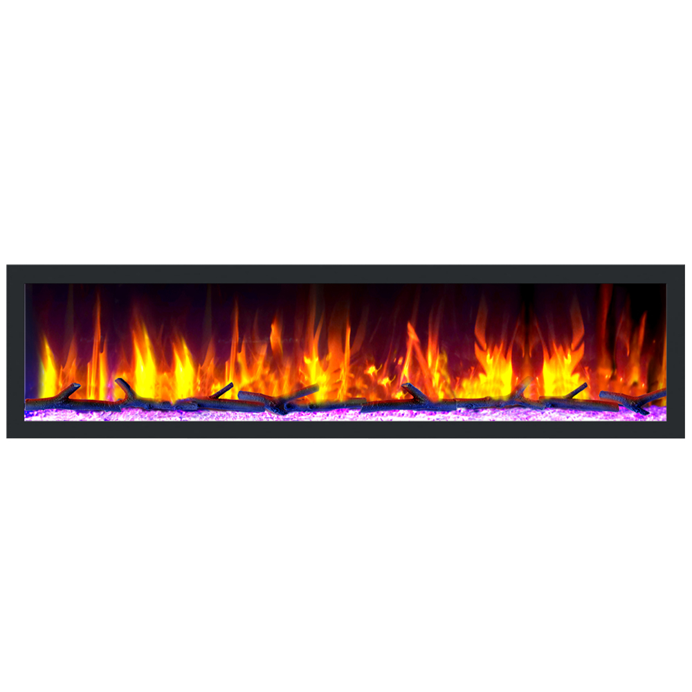 "Dynasty Cascade 74"" Smart Linear Electric Fireplace"