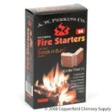 Break-N-Burn Fire Starter Squares, Aw Perkins, Box Of 24 Squares