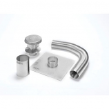"Aluminum 4"" x 25' Selkirk Gas Relining Flexi-Liner Kit"