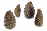 Real Fyre 4 Assorted Ceramic Designer Pine Cones - 6 Piece