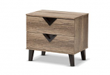 Swanson Modern and Contemporary Light Brown Wood 2-Drawer Nightstand