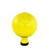 "Gazing Globe 6"" Lemon Drop Crackle"