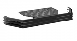 Osburn OA10100 Black Louver and Trivet