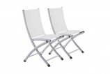 Vivere BACC-WH Bachelor Aluminum Folding Sling Chair - White