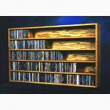 Solid Oak Wall or Shelf Mount CD Cabinet Model 503-4