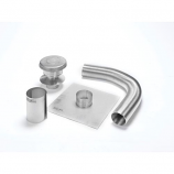 "Aluminum 4"" x 15' Selkirk Gas Relining Flexi-Liner Kit"