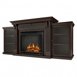 Dark Walnut Calie Electric Fireplace & Entertainment Unit