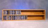 Solid Oak Wall or Shelf Mount CD Cabinet Model 203-4