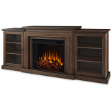 Real Flame 7740E-CO Frederick Entertainment Electric Fireplace - Chestnut Oak