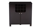 Contemporary Dark Brown Wood Modern Dry Bar and Wine Cabinet