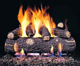 "16"" Golden Oak Logs w/ Ember Burner for Low Gas Pressure Areas"