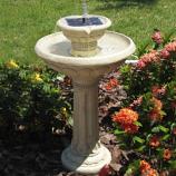 Kensington Gardens Two-Tier Solar on Demand Fountain - Antique White
