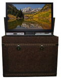 "Elevate Anyroom Lift Cabinet for 42"" Flat Screen TV - Leather"