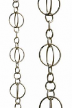 Brushed Stainless Life Circles Rain Chain-8.5' Full Length