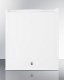Compact Refrigerator in White with Digital Thermostat